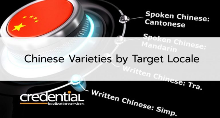 Simplified or Traditional? Chinese Varieties by Target Region
