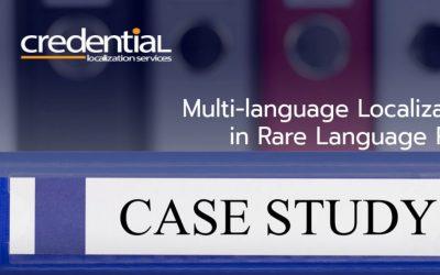 크리덴셜 | 케이스 스터디 – 희귀 언어쌍 다국어 문서번역