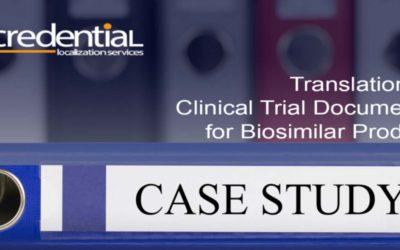 크리덴셜 번역업무사례 – 바이오시밀러 제품 출시를 위한 임상시험기본문서 번역