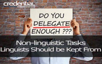 링귀스트에 전가되어서는 안되는 비언어 업무 | 크리덴셜
