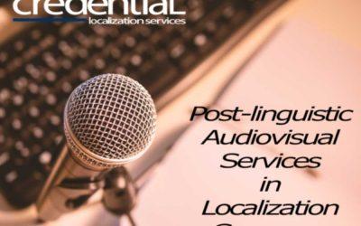 로컬라이제이션업체에서 제공할 수 있는 오디오비주얼 서비스 | 크리덴셜