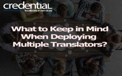 한 프로젝트에 여러명의 번역가를 투입할 때 고려해야 할 사항 | 크리덴셜