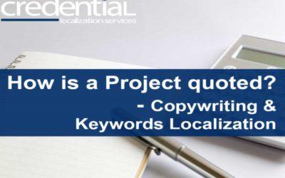 카피라이팅, 키워드 현지화 프로젝트 견적 원리 | 크리덴셜