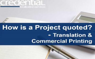 다국어 번역, DTP, 상업인쇄 프로젝트 견적 원리 | 크리덴셜