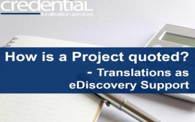 eDiscovery 지원 전자증거 번역업무 견적 원리 | 크리덴셜